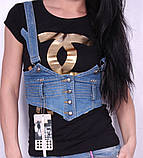 Женская легкая джинсовая жилетка, фото 2