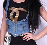 Женская легкая джинсовая жилетка, фото 3