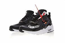 "Кроссовки Nike Air Huarache Off-White ""Черные/Белые"", фото 3"