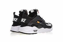 "Кроссовки Nike Air Huarache Off-White ""Черные/Белые"", фото 2"