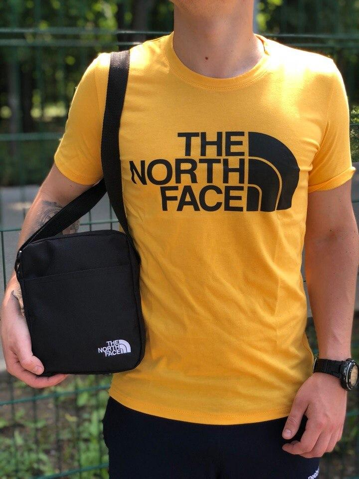 Футболка (Хлопок) The North Face Желтая