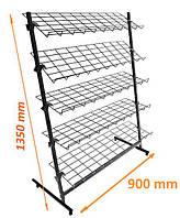 Стойка 5 полок ширина 900мм ячейка 100х50мм