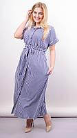 Стильное платье Сара, большие размеры, фото 1