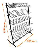 Стойка 5 полок ширина 700мм ячейка 100х50мм