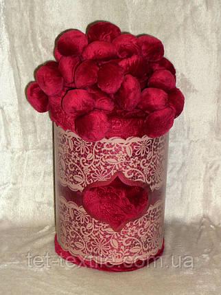 Плед Colorful Home с помпонами вишневый 200х220см., фото 2