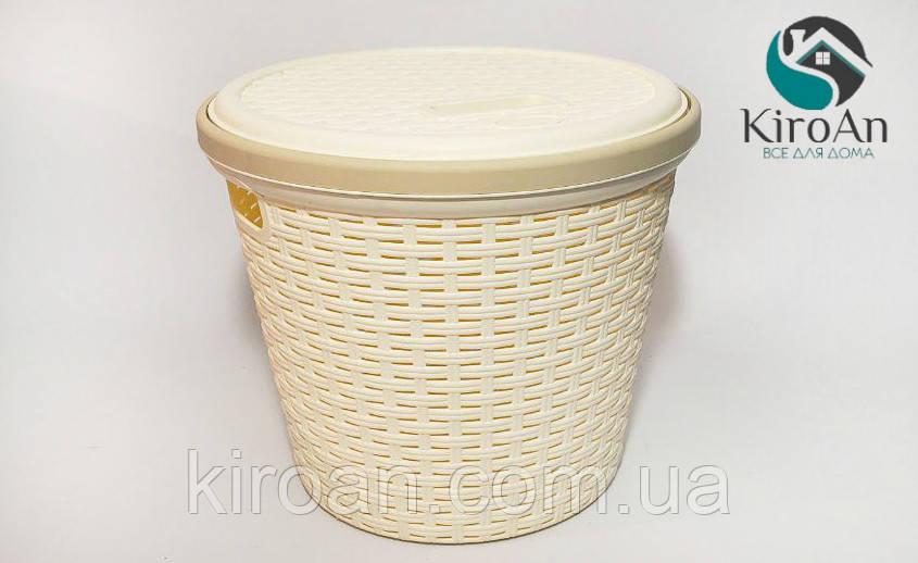 Корзина для хранения круглая Irak Plastik SP-140 (айвори)