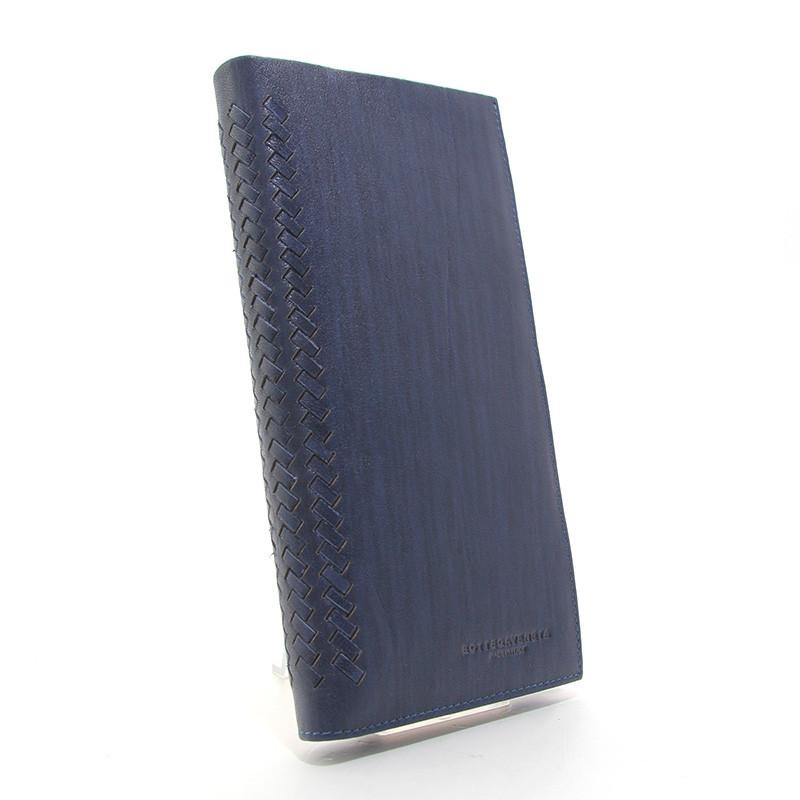 Кошелек мужской кожаный синий Bottega Veneta 1409