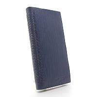 Кошелек мужской кожаный синий Bottega Veneta 1409, фото 1