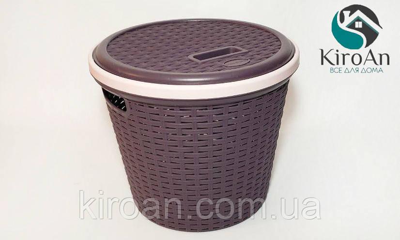 Корзина для хранения круглая Irak Plastik SP-140 (цвет Баклажановый )