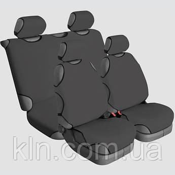 Чохли універсальні на 4 сидіння Beltex Cotton графіт RENAULT: Captur, Clio, Dokker, Duster, Espace, Fluence,
