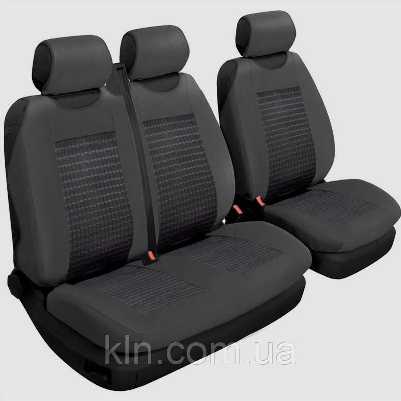 Чохли універсальні на передні сидіння 2+1 Beltex Comfort чорні для RENAULT Trafic,CITROEN Jumpy