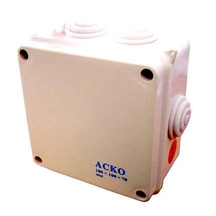 Распределительная коробка  100х100х70 мм (АсКо), фото 2