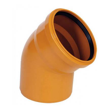 Отвод 45 градусов для наружной канализации (110мм), фото 2