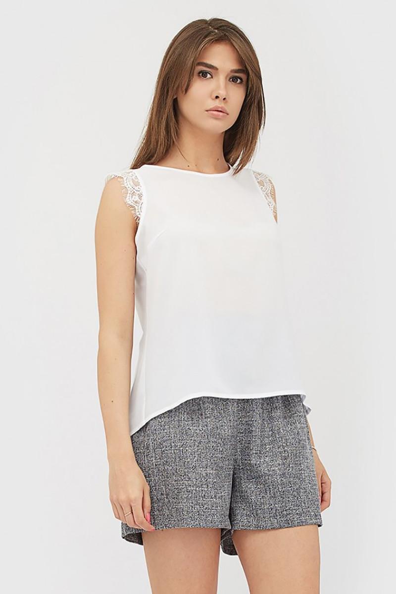 (S, M, L) Унікальна біла блузка з мереживом Lorin