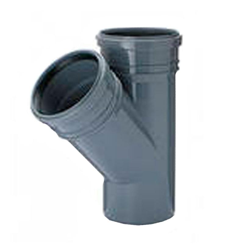 Тройник канализационный ПВХ Wavin (110х110 мм) 45 гр.