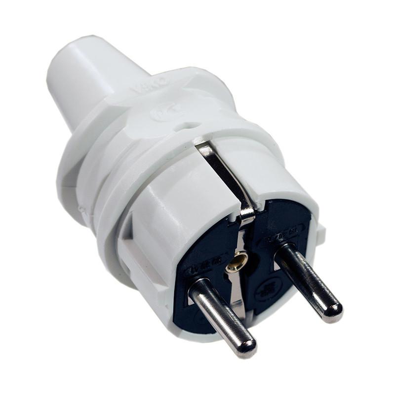 Вилка электрическая VIKO прямая с заземлением