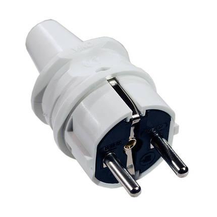Вилка электрическая VIKO прямая с заземлением, фото 2