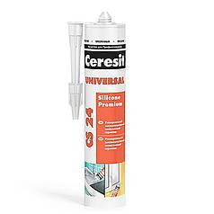 Герметик силиконовый Ceresit универсальный прозрачный (280 мл)