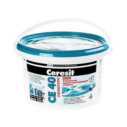 Затирка для швов Ceresit СЕ-40/2 фиолетовая водостойкая (2 кг), фото 2