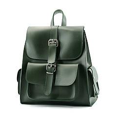 Рюкзак жіночий зелений із екошкіри / Рюкзак женский зеленый из экокожи