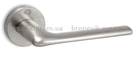 Ручка на круглой розетке 1485 Convex матовый хром