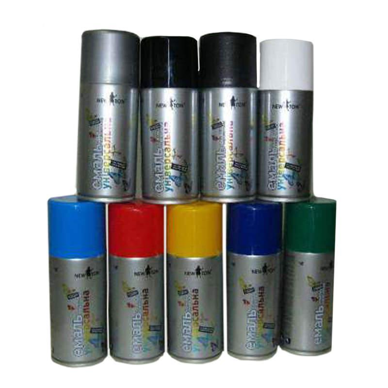 Краска аэрозольная NEW TON Супер хром серебро (400 г)