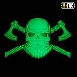 Нашивка M-Tac Bearded Skull 3D ПВХ Black/Светонакопитель, фото 2
