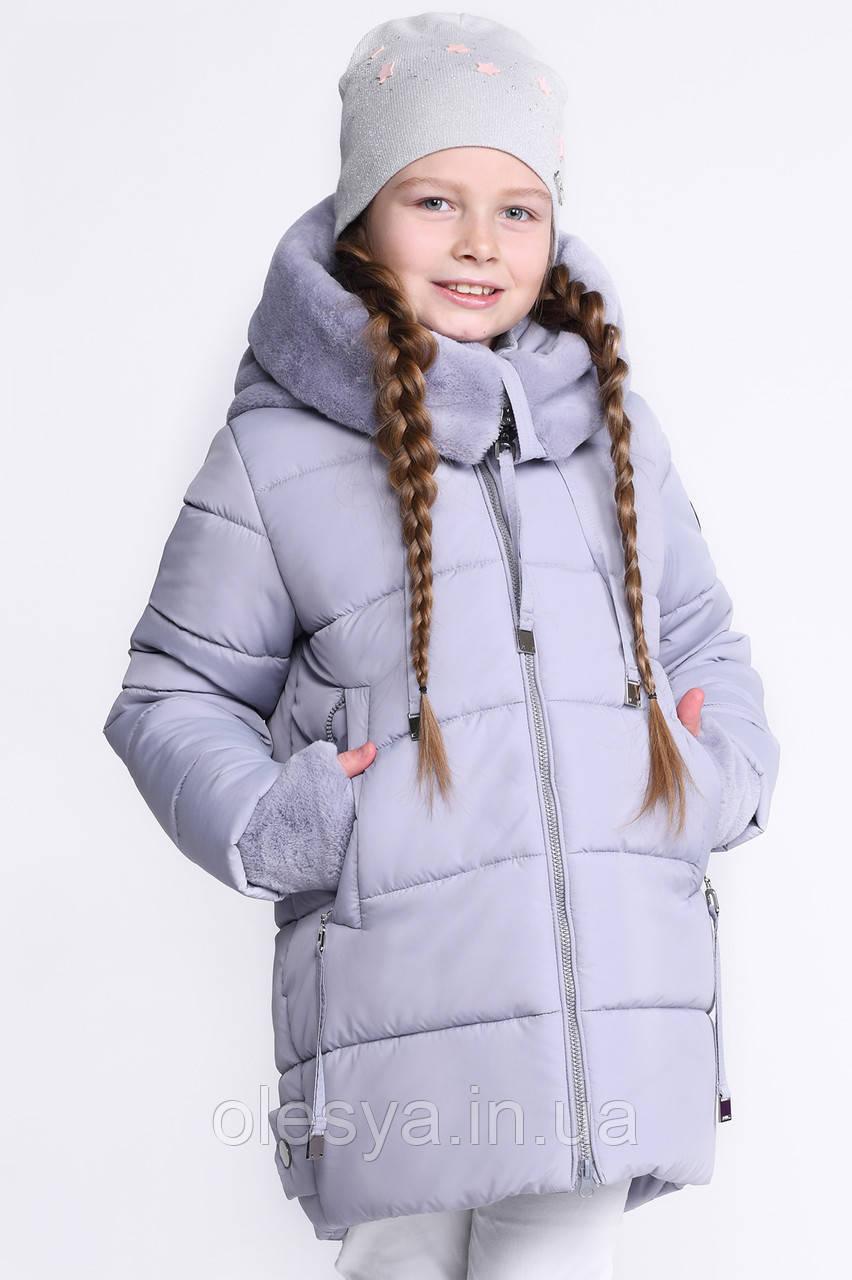 Детская зимняя куртка для девочек тм X-Woyz размеры 128 134