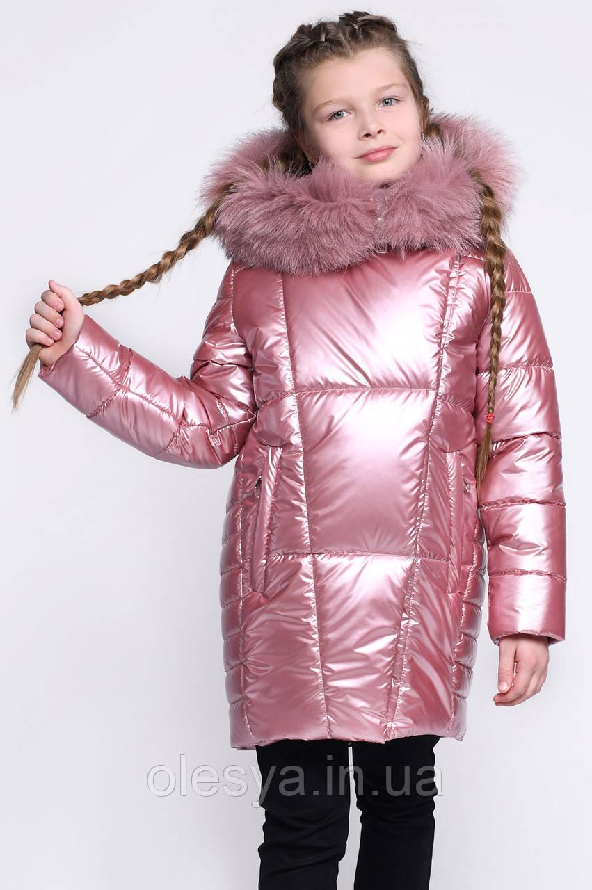 Модная зимняя Куртка для девочки тм X-Woyz Размер 152- 158