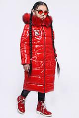 Модная детская зимняя куртка для девочек тм X-Woyz размеры 122- 158