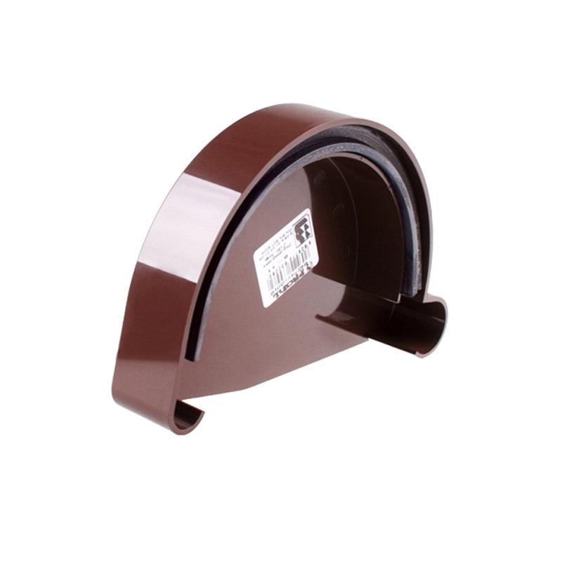 Заглушка желоба правая коричневая Profil (130 мм)