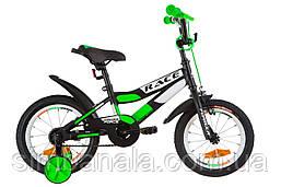 """Детский велосипед 14"""" Formula RACE (черно-салатовый)"""