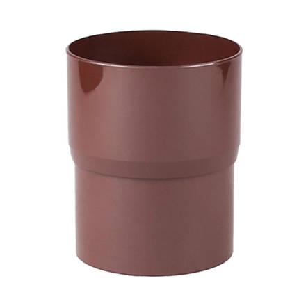 Соединитель трубы коричневый Profil 130 мм, фото 2