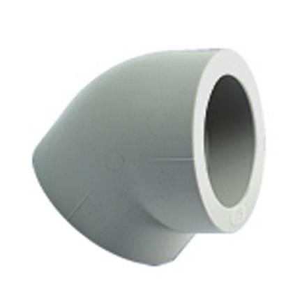 Колено полипропиленовое Экопластик 45 (25 мм), фото 2