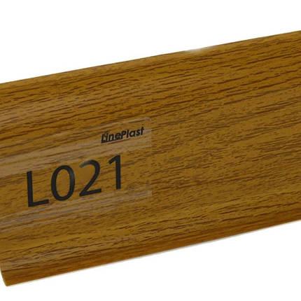 Плінтус підлоговий пластиковий Line Plast (021) дуб печений, фото 2