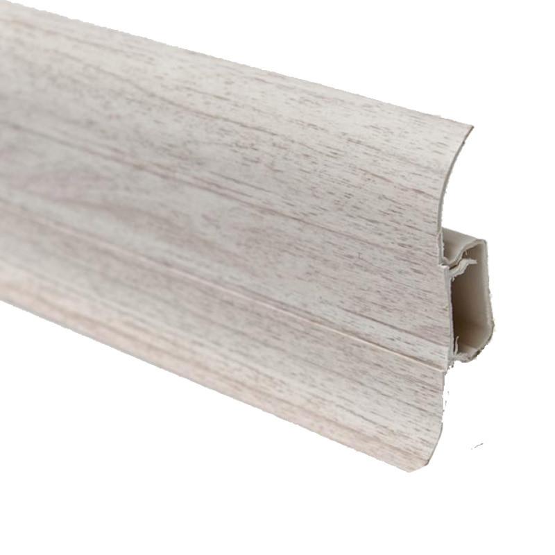 Плінтус підлоговий пластиковий Line Plast (046) ясен сетлый