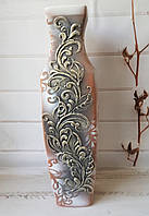 Напольная ваза Абстракция бронза