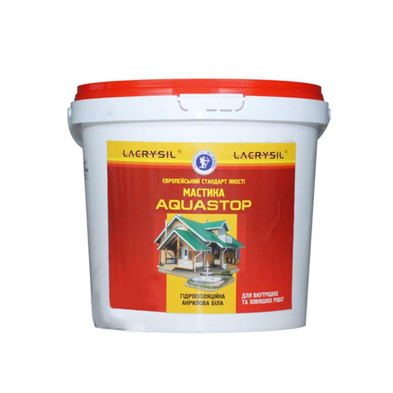 Мастика Lacrysil Aquastop гидроизоляционная акриловая суперэластичная (4,5 кг)
