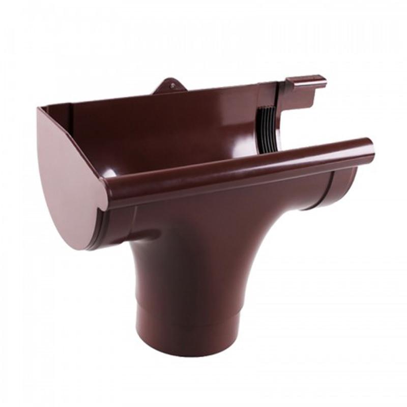 Ливнеприёмник Profil левый коричневый (90 мм)