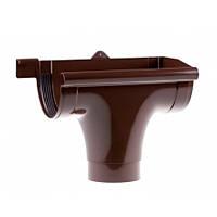 Ливнеприёмник Profil правый коричневый (90 мм)