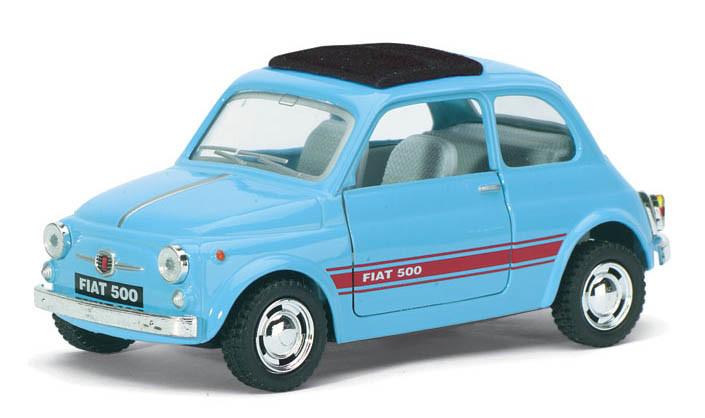 Автомодель металлическая 1:24 Fiat 500 KT5004W Kinsmart