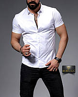 Стильная мужская рубашка с коротким рукавом, коллекция 2019 года