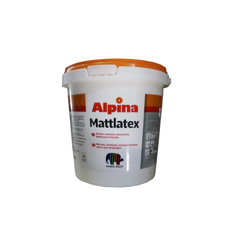 Водно-дисперсійна фарба Alpina Mattlatex (2,5 л)