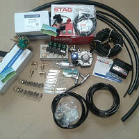 Полный комплект ГБО 4 поколения Stag QBOX basic (ред. tomasetto , форс. Valtek, )