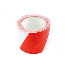 Лента сигнальная красно-белая 120 мм (100 м)