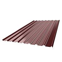 Профнастил нс-20 (2000х1150х0,4) 8017 коричневый (2,3 м.кв)