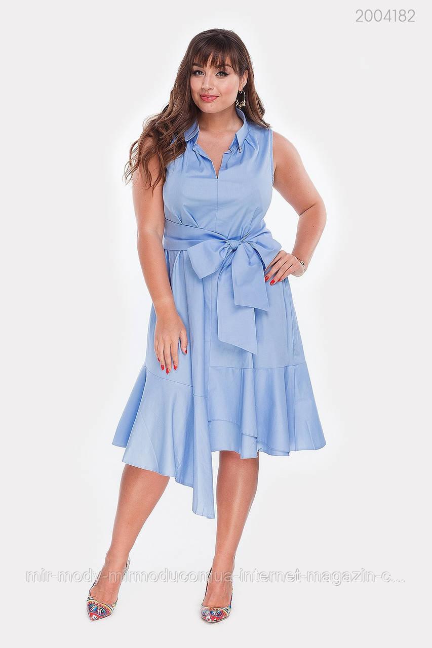 Платье Ольвия (голубой) (3 цвета) с 48 по 54 размер (рин)