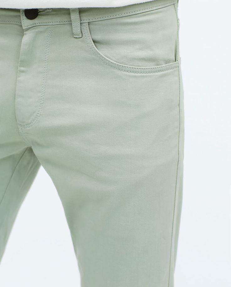 375b7802 Мужские брюки штаны зеленые Zara размер 44 - Интернет-магазин «Копейка» в  Луцке
