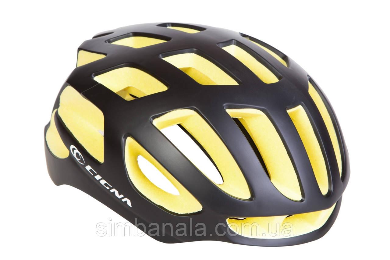 Шлем велосипедный СIGNA TT-4(черно-желтый)