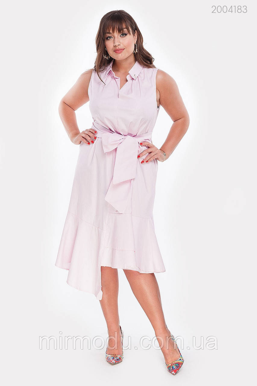 Платье Ольвия (розовый) (3 цвета) с 48 по 54 размер (рин)
